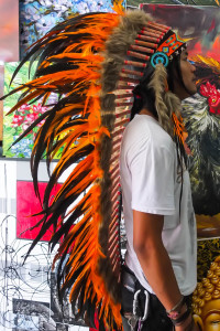 Large Orange Replica eBay Indian Chief Headdress