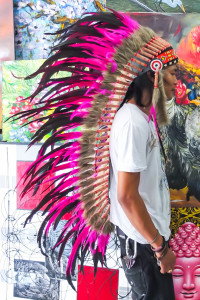 Large Pink Indian Chief Headdress - Great Indian Headdress