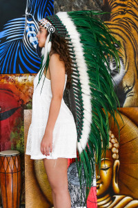 Large Green eBay Indian Chief Headdress